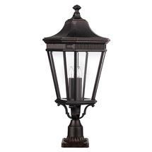 Cotswold Lane Large Pedestal Lantern - Grecian Bronze