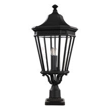 Cotswold Lane Large Pedestal Lantern - Black
