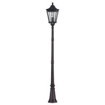 Cotswold Lane Pillar Lantern - Black