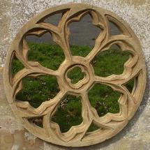 Gothic Traceried Round Garden Mirror