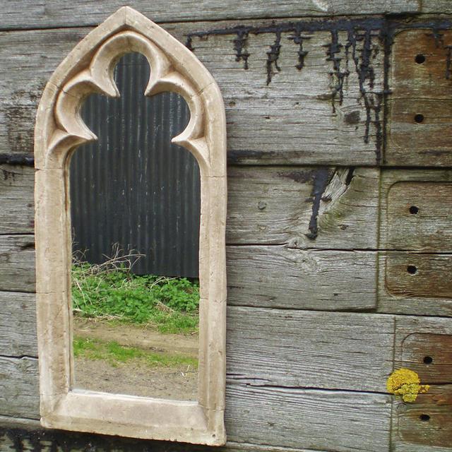 Buy Gothic Single Trefoil Arch Garden Mirror The Worm