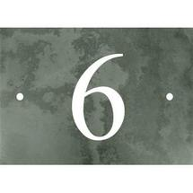 Smooth Green Slate 1 Digit House Number