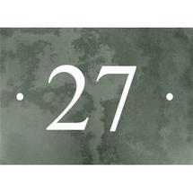 Smooth Green Slate 2 Digit House Number