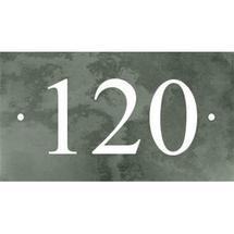 Smooth Green Slate 3 Digit House Number