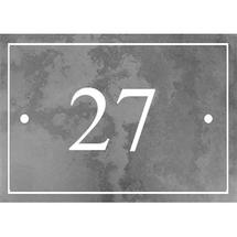 Smooth Black Slate 2 Digit House Number with Border