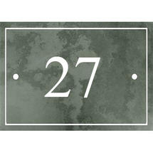 Smooth Green Slate 2 Digit House Number with Border