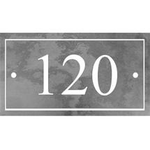 Smooth Black Slate 3 Digit House Number with Border