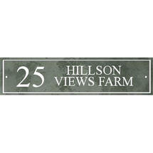 Smooth Green Slate Address Sign with Border - Size 2
