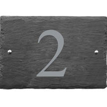 Rustic Slate 1 Digit House Number