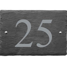 Rustic Slate 2 Digit House Number