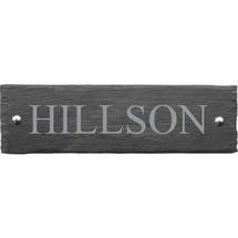 Rusic Slate One Line House Sign - Size 2