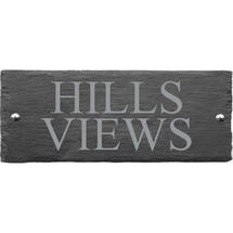 Rusic Slate Two Line House Sign - Size 1