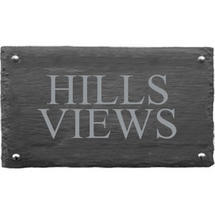 Rusic Slate Two Line House Sign - Size 2