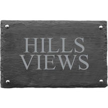 Rusic Slate Two Line House Sign - Size 3