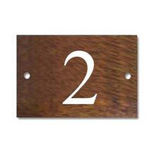 Solid Iroko 1 Digit House Number