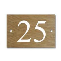 Solid Oak 2 Digit House Number