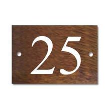 Solid Iroko 2 Digit House Number