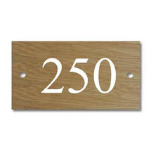 Solid Oak 3 Digit House Number