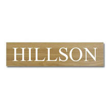Solid Oak One Line House Sign