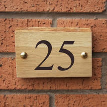 Rustic Oak 2 Digit House Number