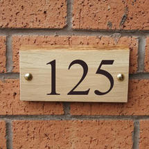 Rustic Oak 3 Digit House Number