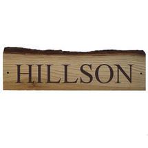Rustic Oak House Sign